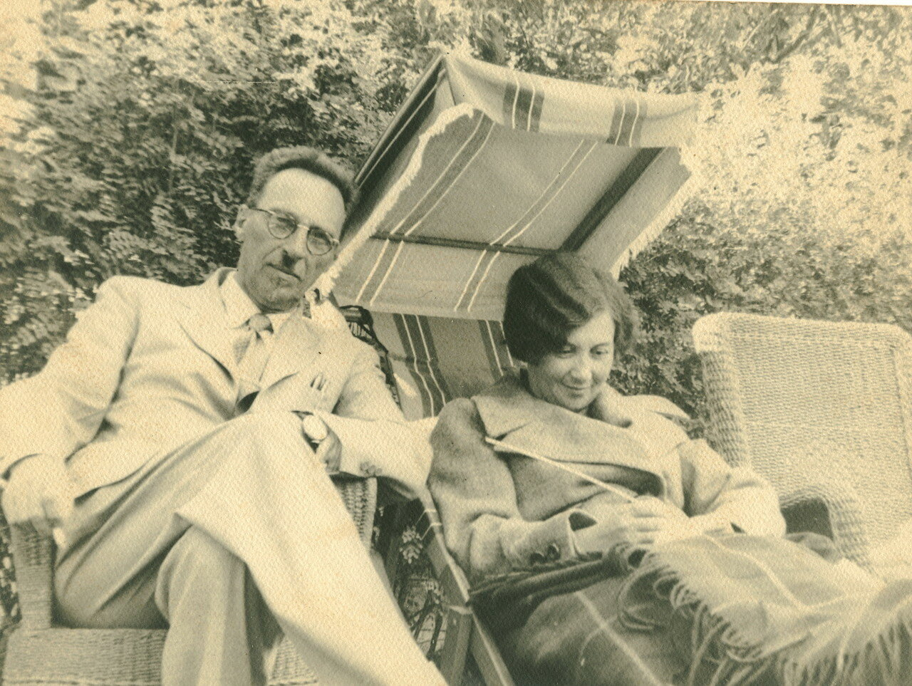 1936. Г.К.Мейстер с женой во время поездки в США
