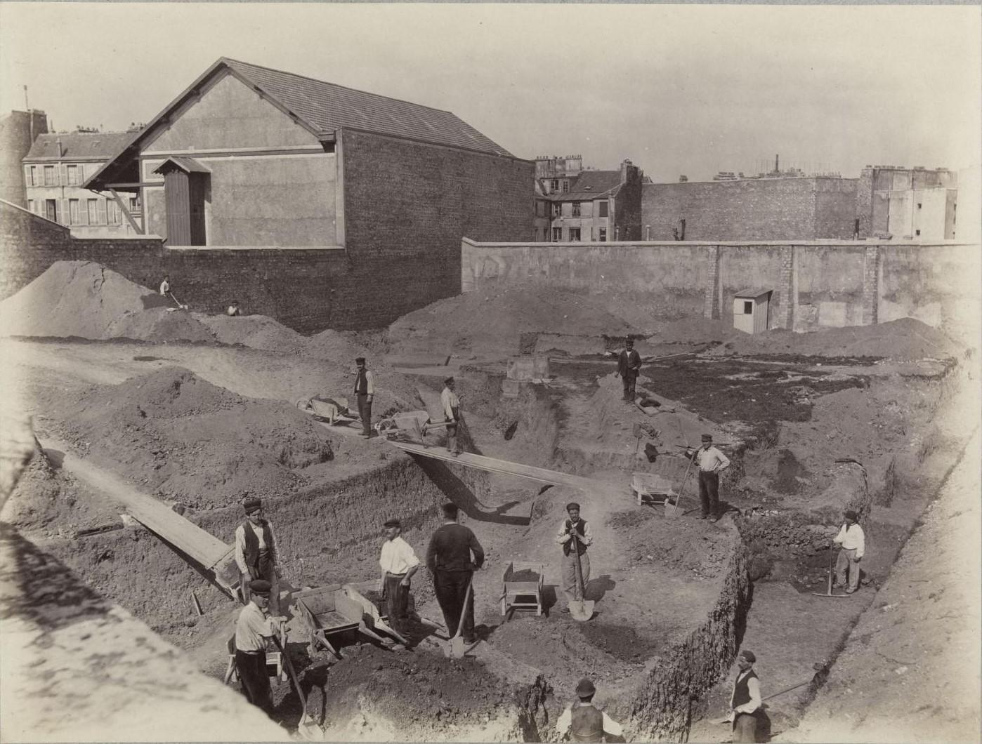Рю де Аренас. Вид раскопов. 1883