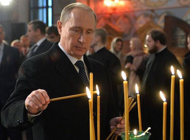 """Как в императорской церкви Петербурга молятся за """"воина"""" Путина (фотофакт)"""