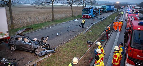 В Европе возросло число погибших в автоавариях