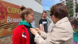 Волонтеры детского общественного объединения «Родные просторы»