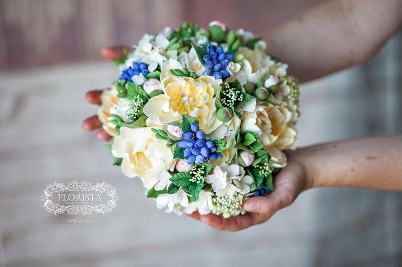 Букет  ручной работы для невесты.