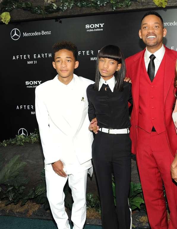 16. Уилл Смит с детьми: Джейден и Уиллоу.