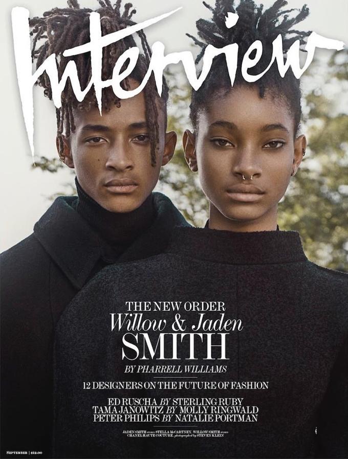 Уиллоу и Джейден Смит на обложке Interview Magazine