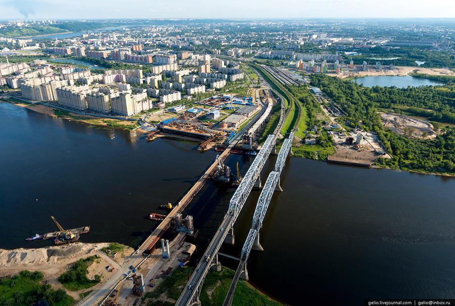 52. Рядом с мостами ведется строительство дублера Борского моста.