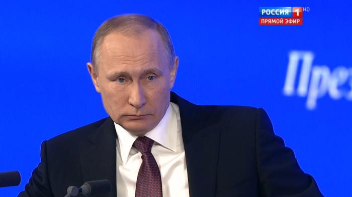 Нацентральных каналах: сегодня покажут большую пресс-конференцию Путина