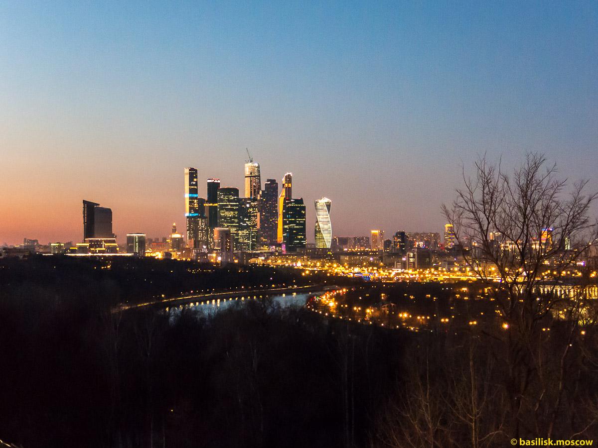 Вечерняя Москва. Moscow City. Март 2016
