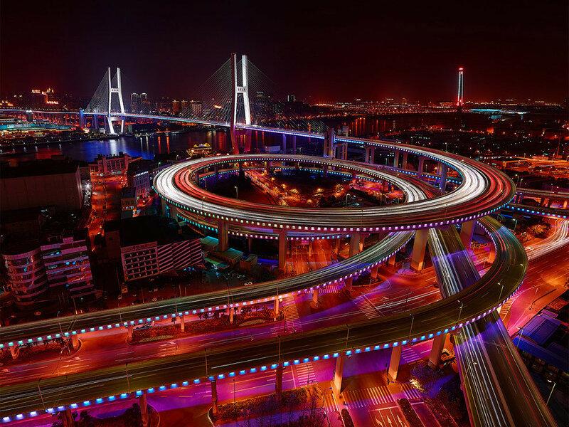 Наньпуский мост, Шанхай, Китай.