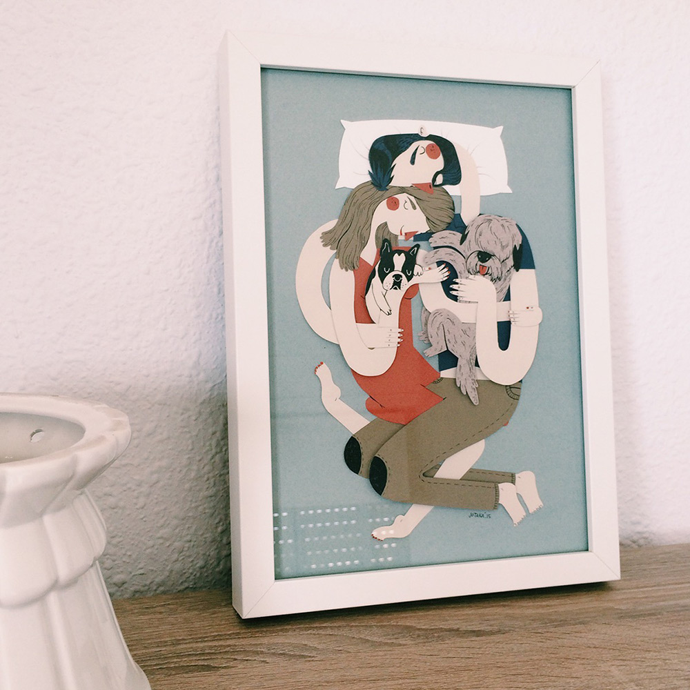 Family Portraits Illustrated with Paper by Jotaka
