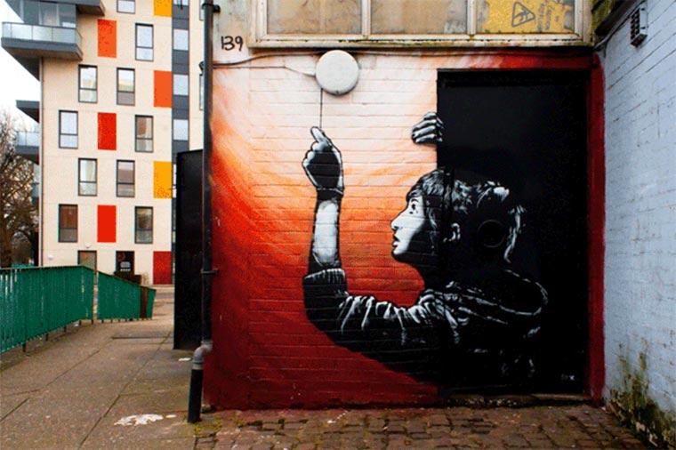 Transforming Street Art into animated GIFs (1 pics)