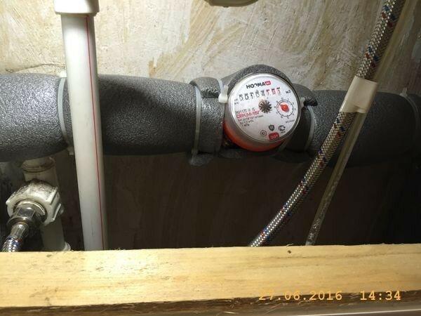Теплоизоляция труб от водяных капель