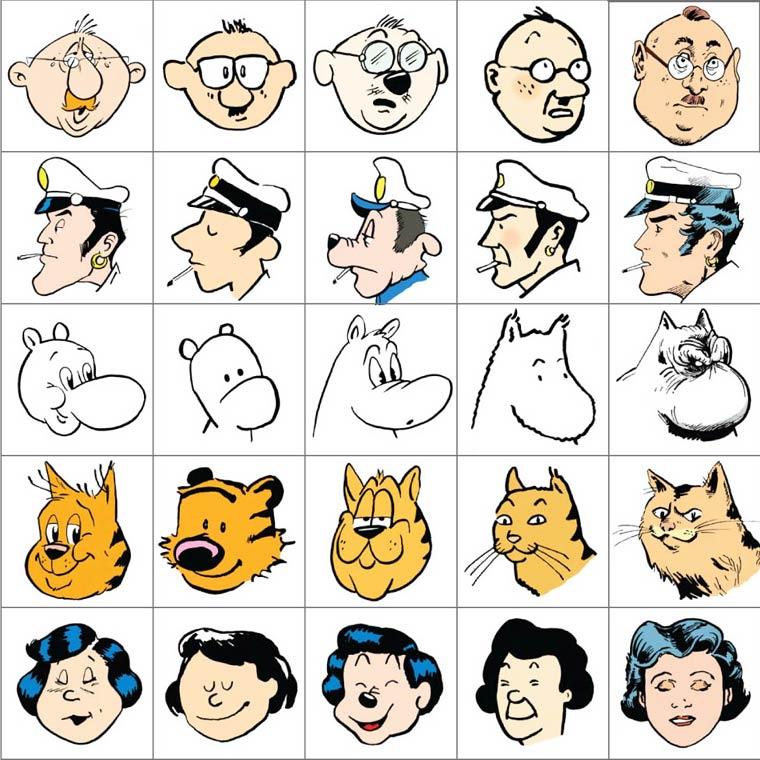 10 personnages cultes dessines chacun avec le style de 10 dessinateurs celebres