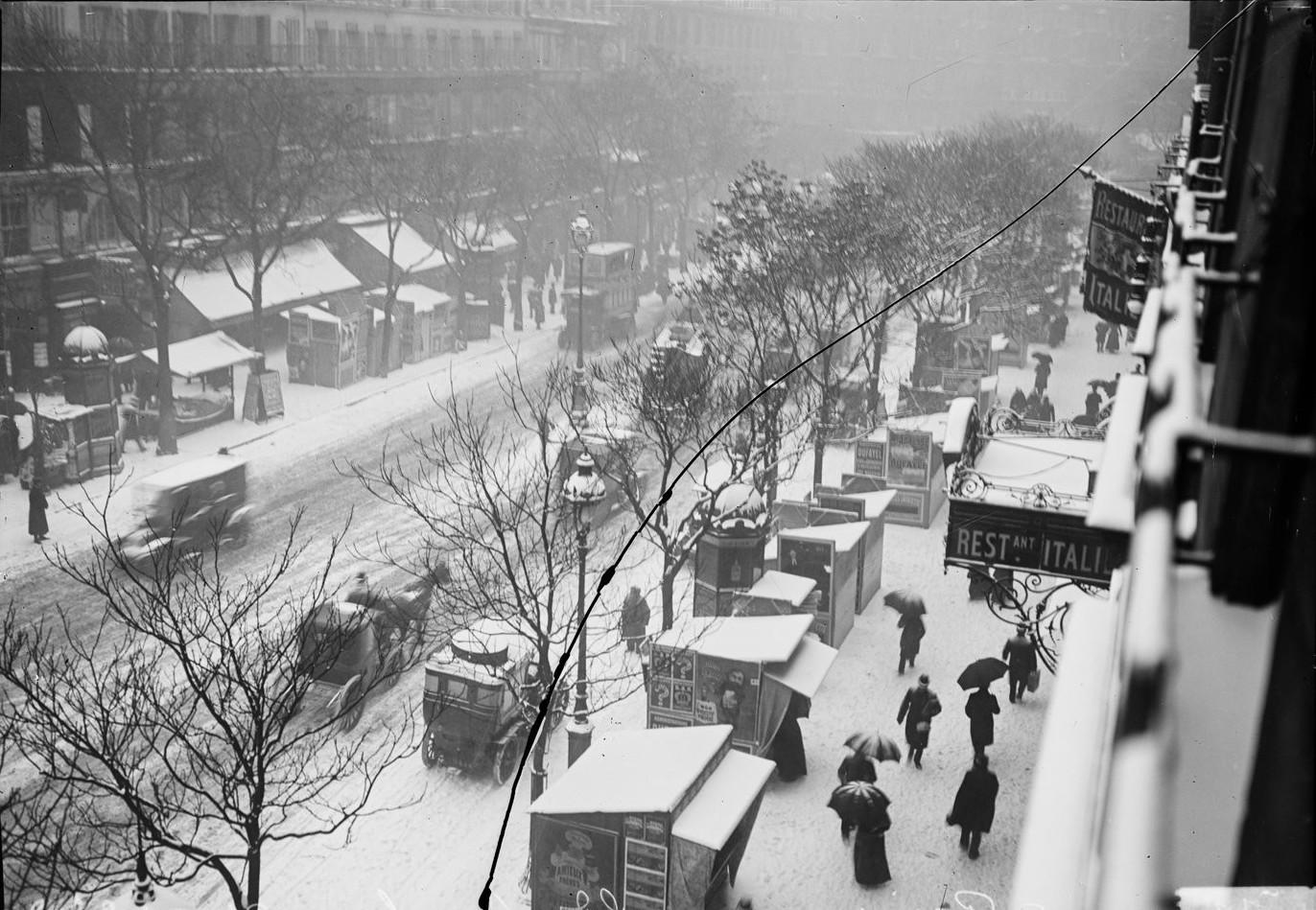 1908. Снег на главных бульваров