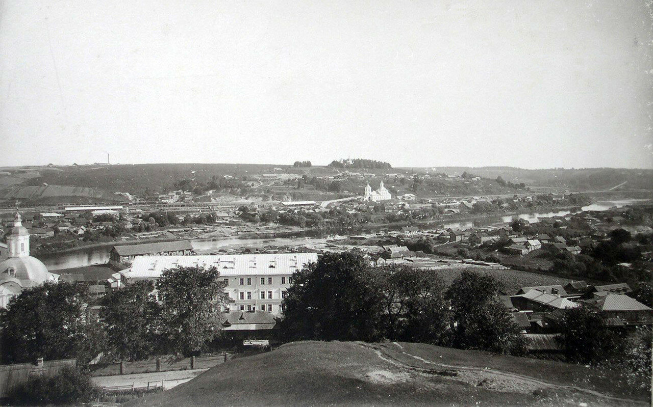 Вид северо-восточной окраины города с башни Веселуха. 1901