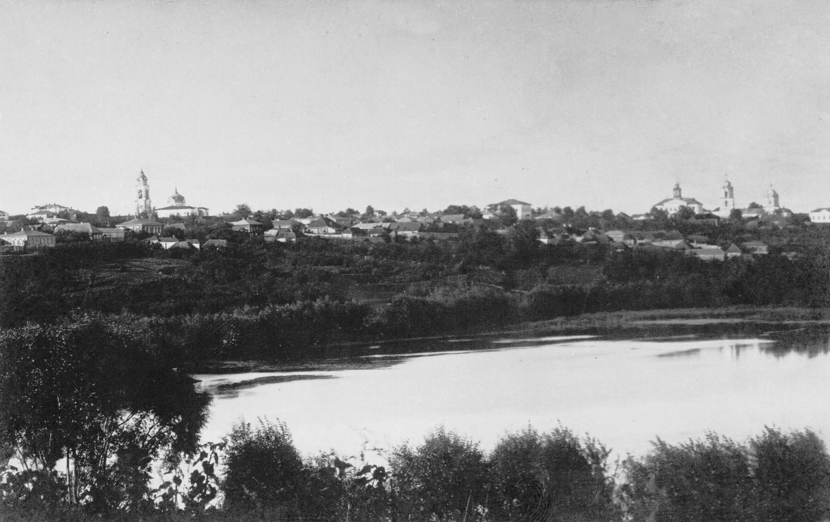 Город со стороны Безымянного озера