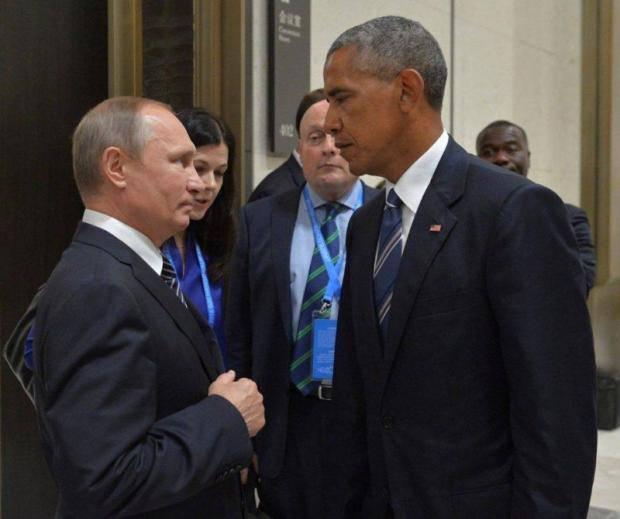 """""""Слон и моська"""": Взгляд Обамы на Путина (фото)"""