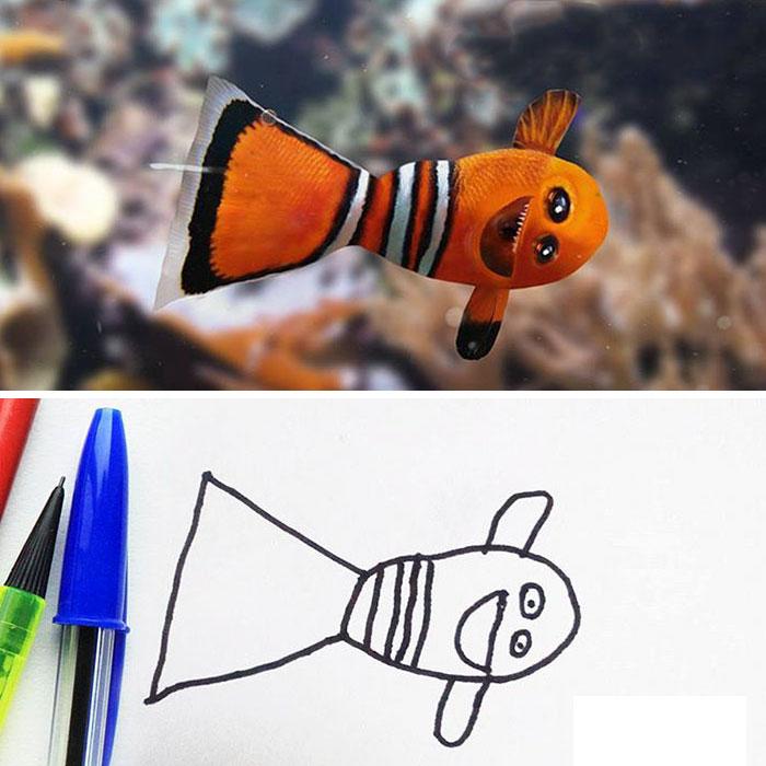 Немного странная рыбка.