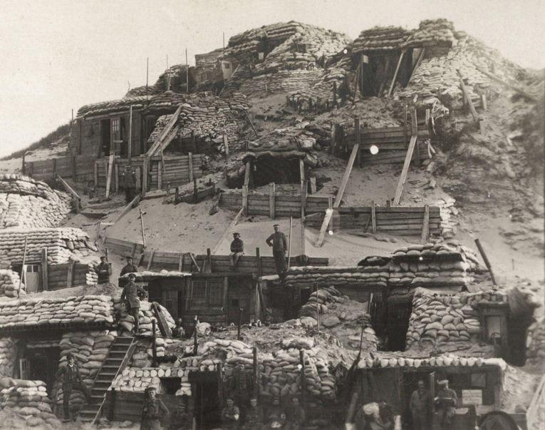 17. Немецкий наблюдательный пункт на линии фронта на реке Исер, Бельгия, 1917 год.