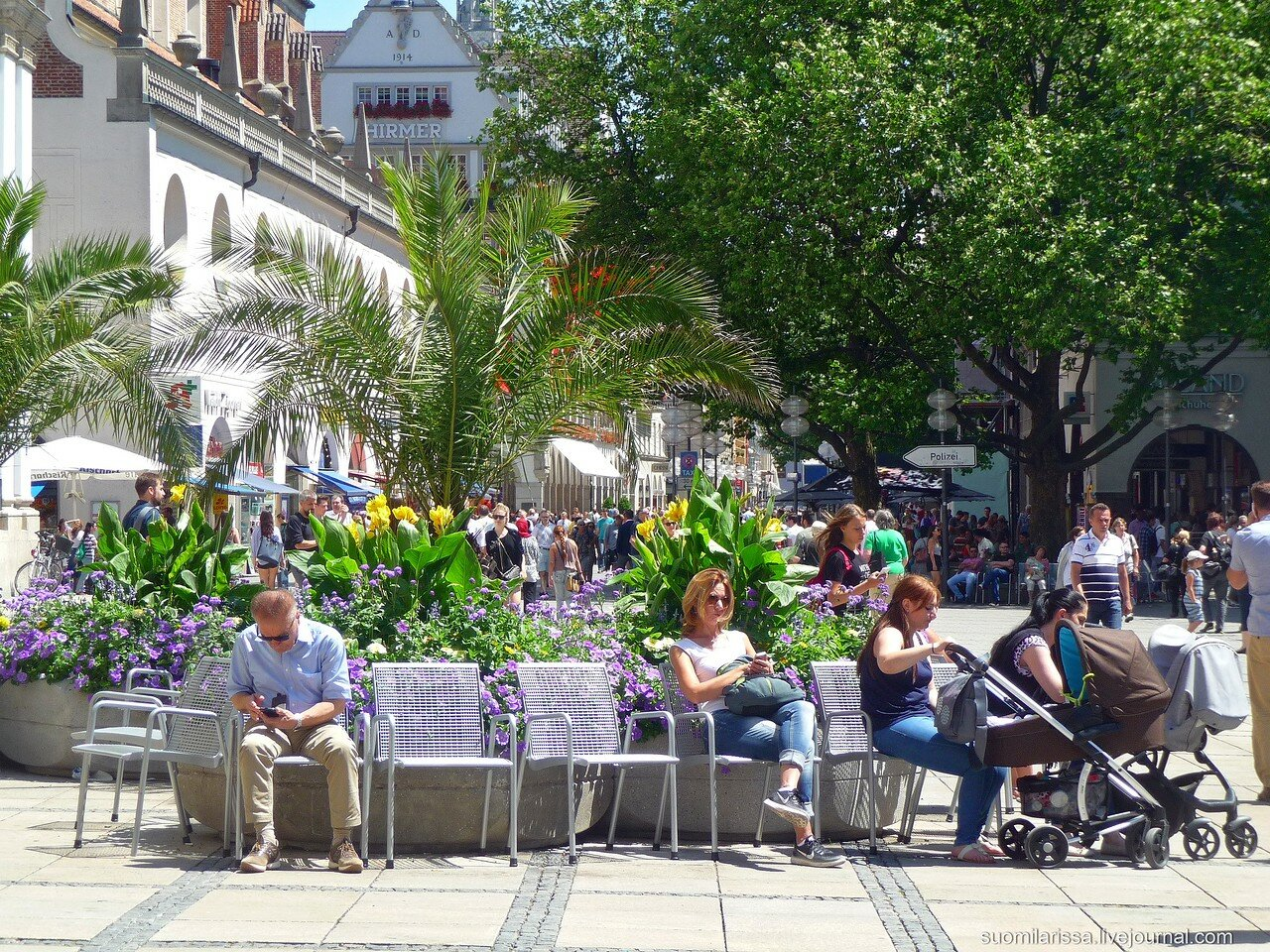 Жаркий день в Мюнхене, 7 июля 2016 г.