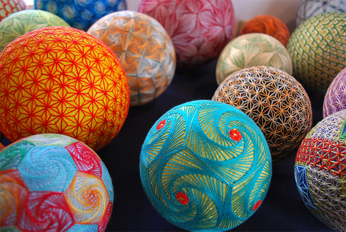 A Huge Collection of Embroidered Temari Spheres by an 88-Year-Old Grandmother