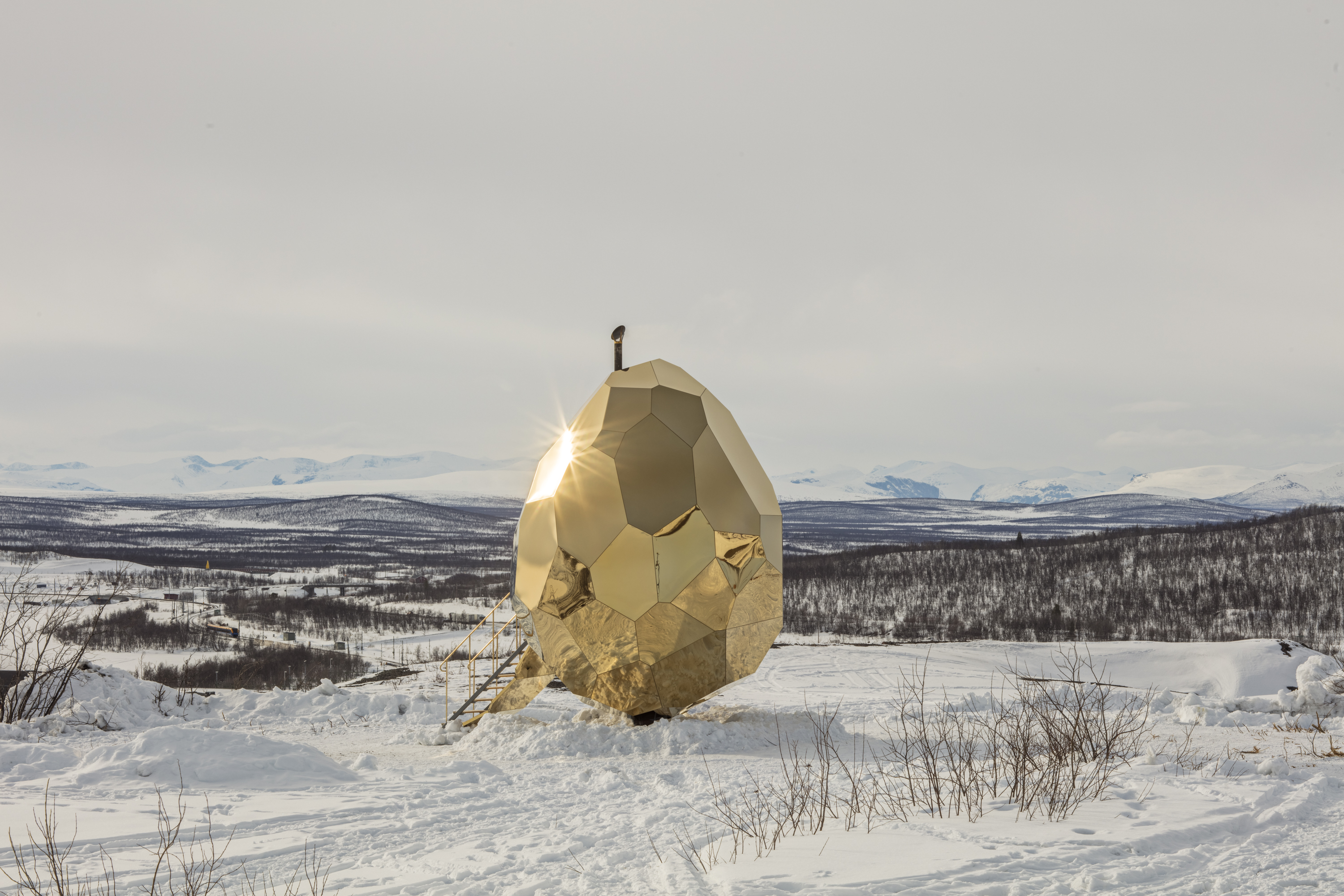 Amazing Egg-shaped Sauna in Kiruna
