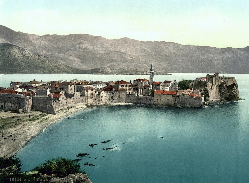 Старый город Будвы в конце XIX века