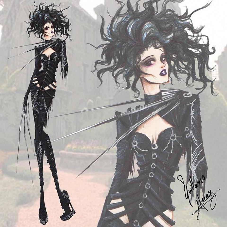 Personagens de Tim Burton em releituras fashion