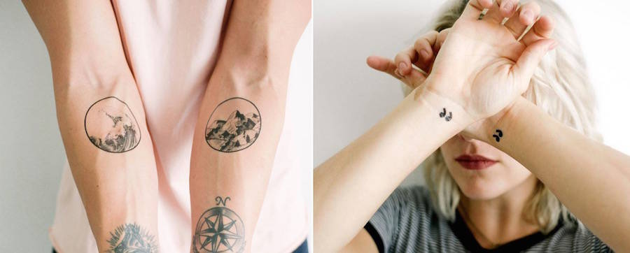 Cute Minimal Temporary Tattoos
