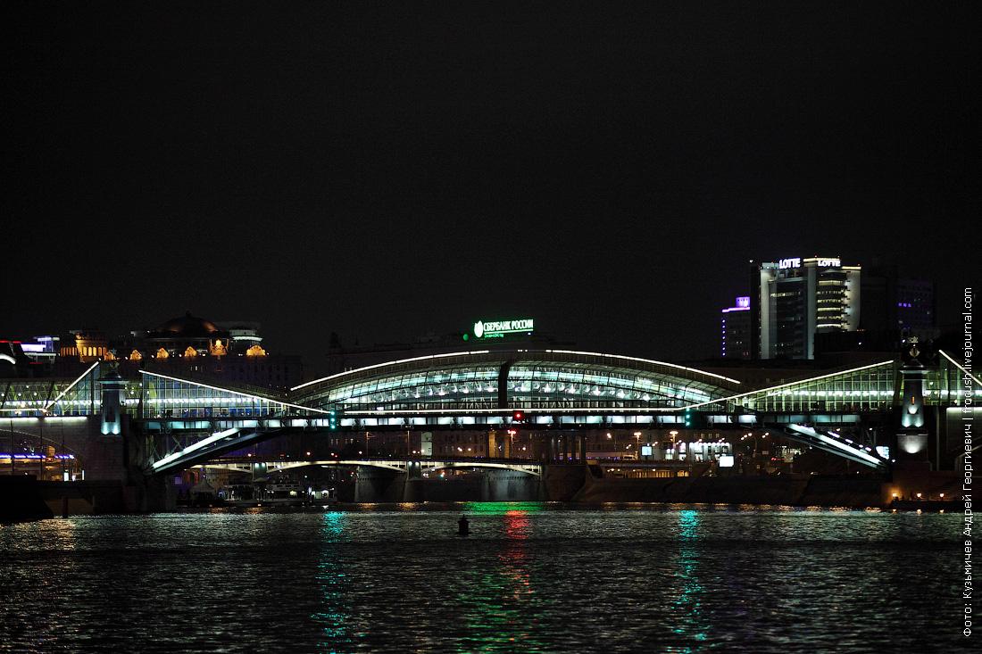 ночное фото Мост Богдана Хмельницкого