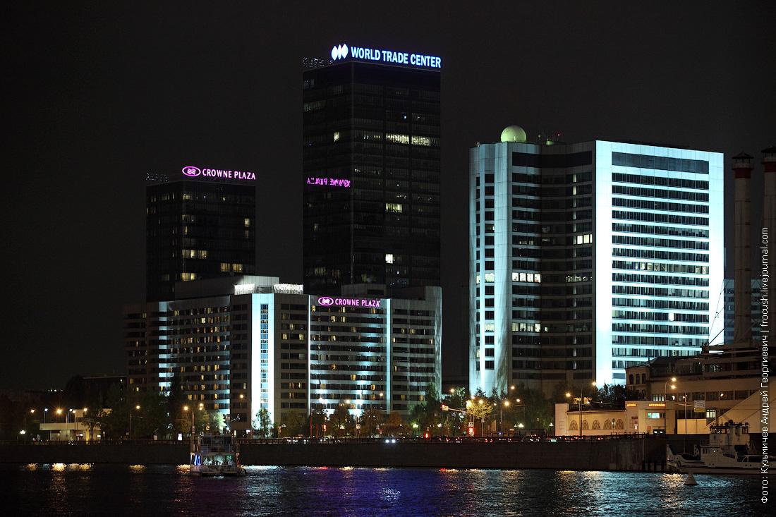 Москва Центр международной торговли ночное фото