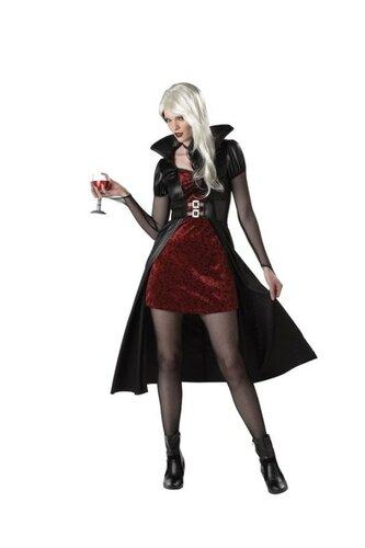 Женский карнавальный костюм Вампирша с плащом