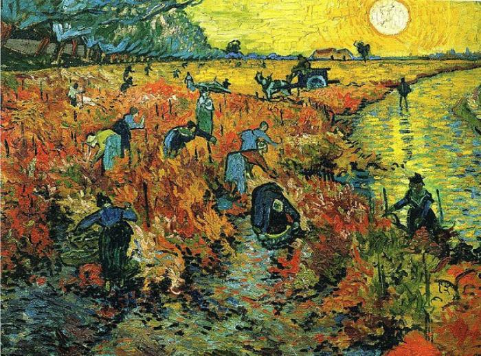 7. «Красный виноградник». Винсент Ван Гог. «Красный виноградник» — картина маслом, написанная Винсен