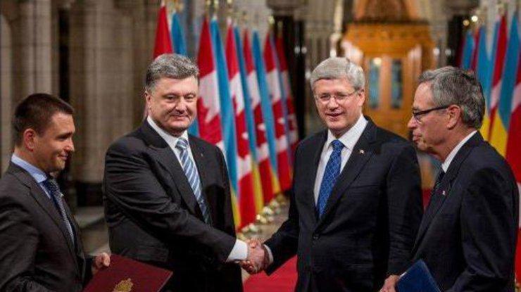 Украина подпишет договор сКанадой освободной торговле,