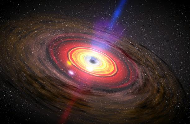 Астрономы установили, почему выбросы темных дыр превышают скорость света