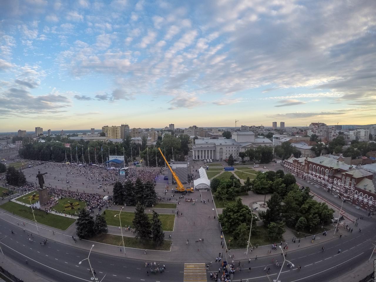 Панорама Саратов с крыши