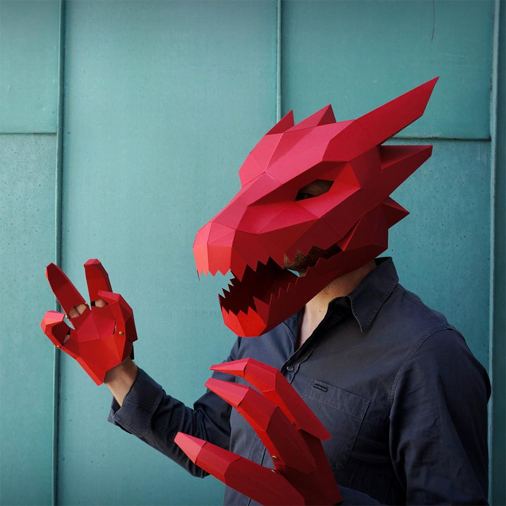 New DIY Geometric Halloween Masks by Wintercroft (10 pics)
