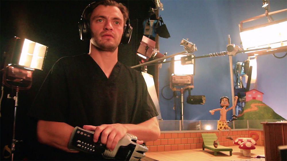 First off: language warning for the kiddos. Stop-motion animator Dillon Markey works on projects for
