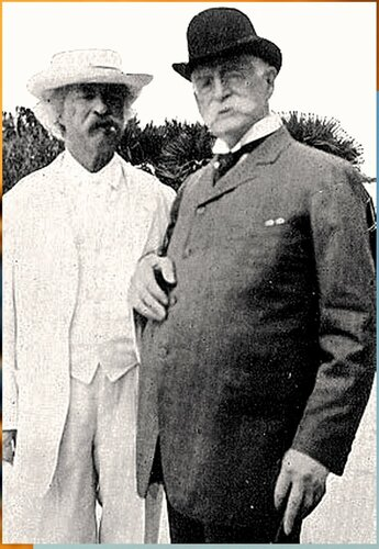 Марк Твен. Twain and rogers 1908.jpg