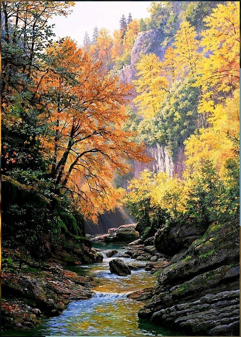 В горах, у реки, Осень....jpg