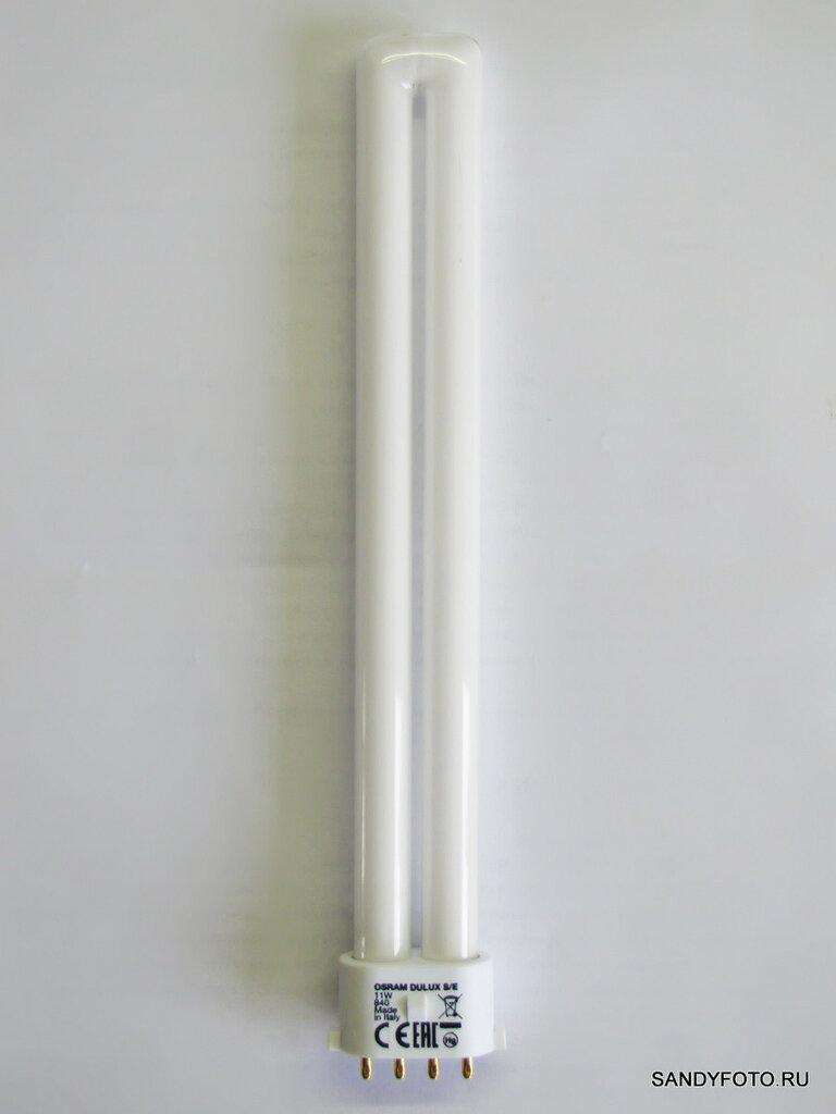Обзор люминесцентной лампы Osram с цоколем 2G7