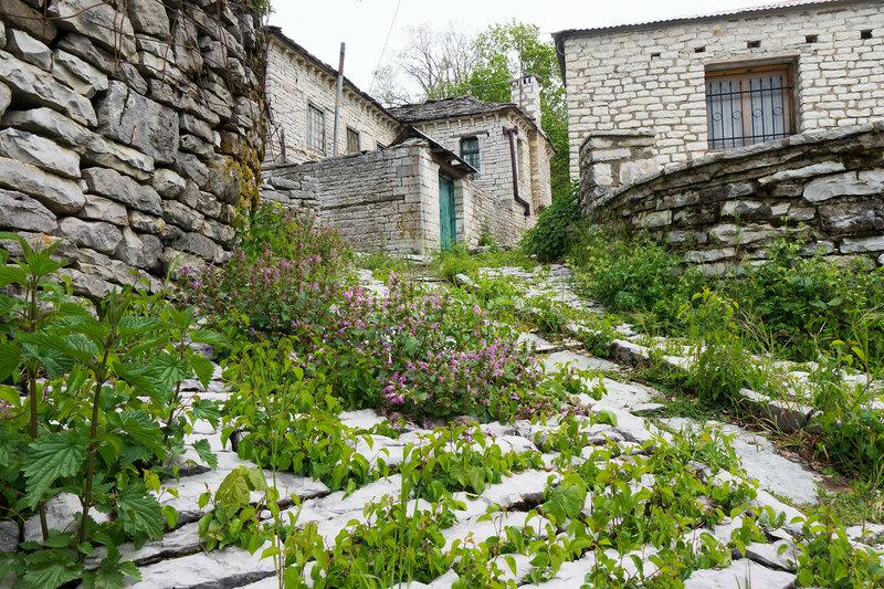 заросшая улочка в старинной деревне Врадето, Загория (Vradeto)