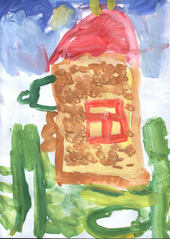 Дом детский рисунк
