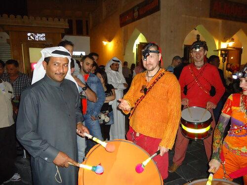 qatar spring festival, moscow drummers maracatu