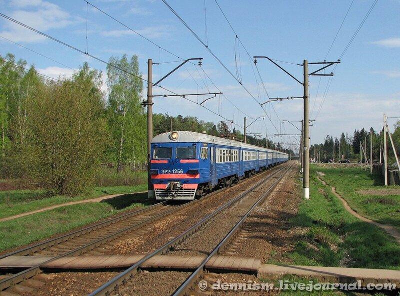 Электропоезд ЭР2-1256, перегон Монино - Чкаловская