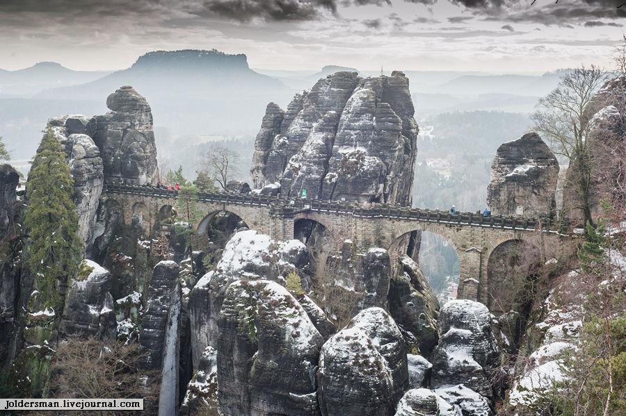 Bastei  вид на мост