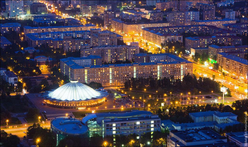 20. Большой Московский цирк на проспекте Вернадского - зрительный зал вмещает более 3000 человек.