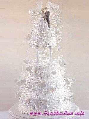 Re: свадебные торты светлых оттенков:кремовый,кофейный,белый.