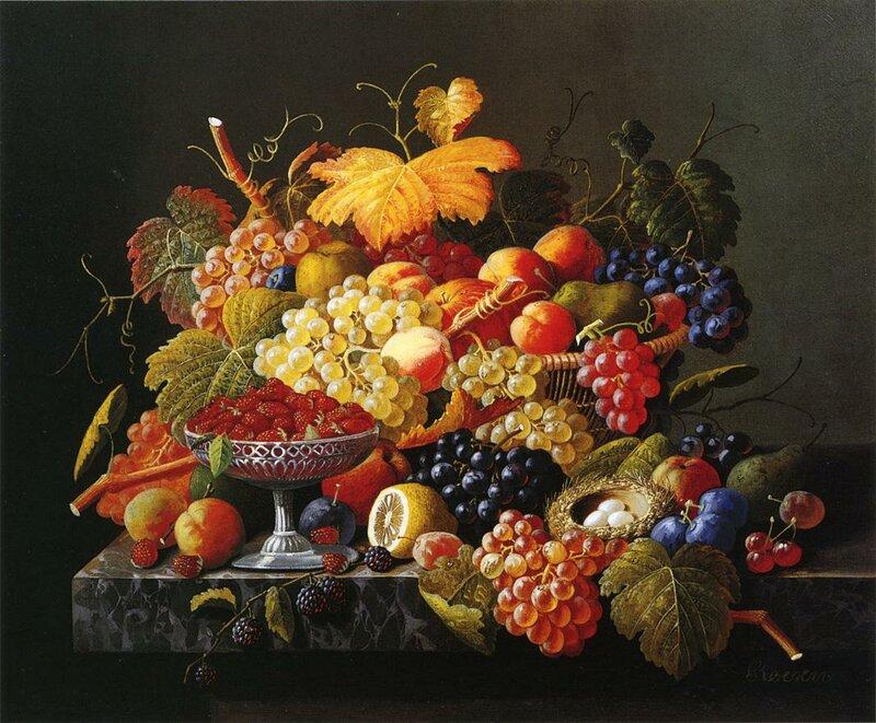 1815 - 1872) Известный американский художник середины XIX века,известный своими обильными фруктовыми и цветочными...