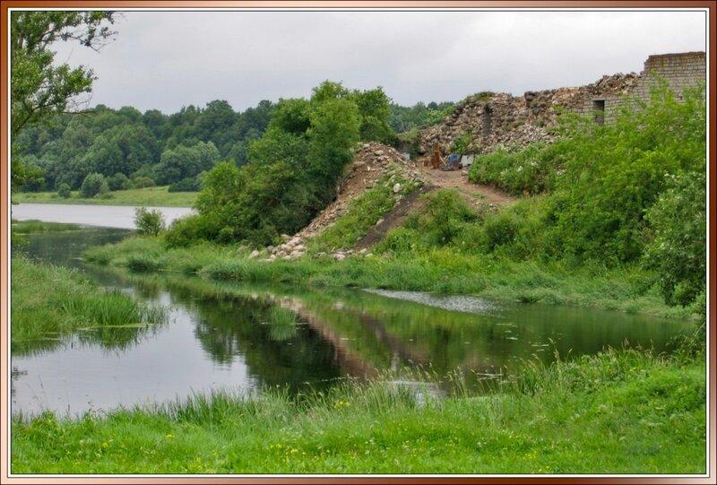 Разрушенная часть стены, Старая Ладога