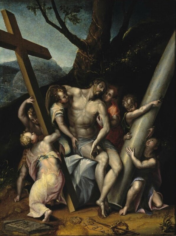'Christ_with_the_Symbols_of_the_Passion',_oil_on_canvas_painting_by_Lavinia_Fontana,_1576,_El_Paso_Museum_of_Art.jpg